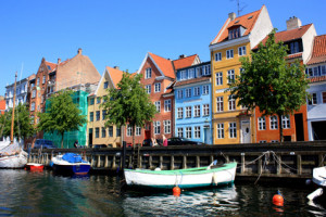 colorful  houses of copenhagen